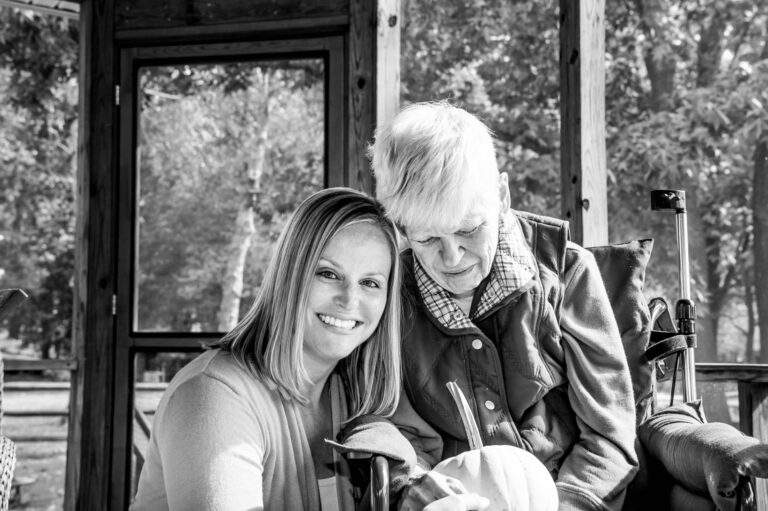 Mother in wheelchair and daughter