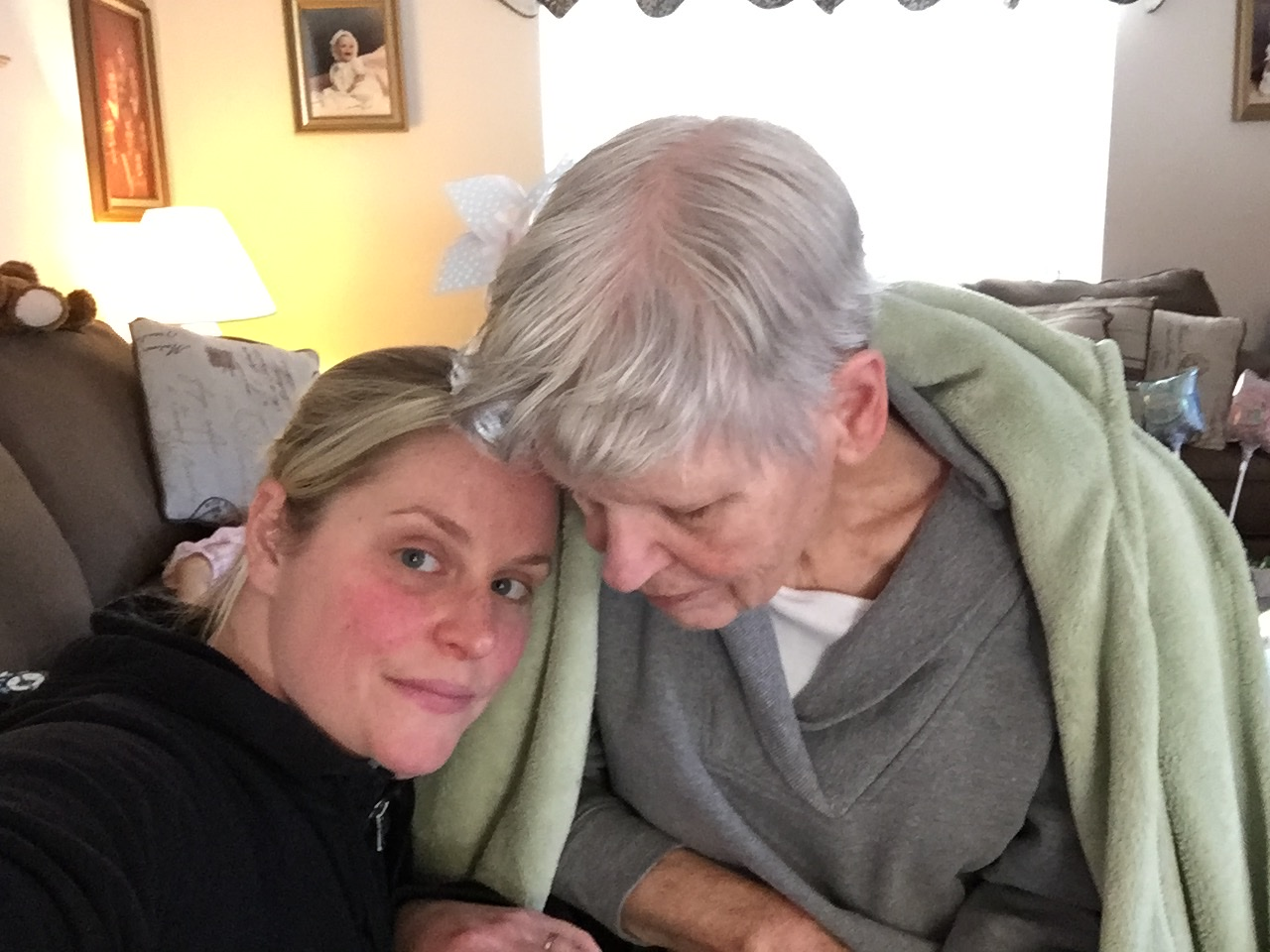Woman with elderly mother