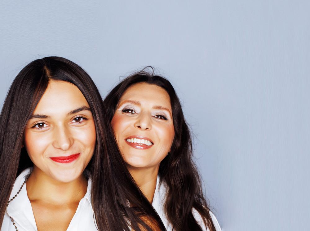 Mom and teenage girl