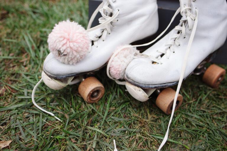 Roller skates in grass