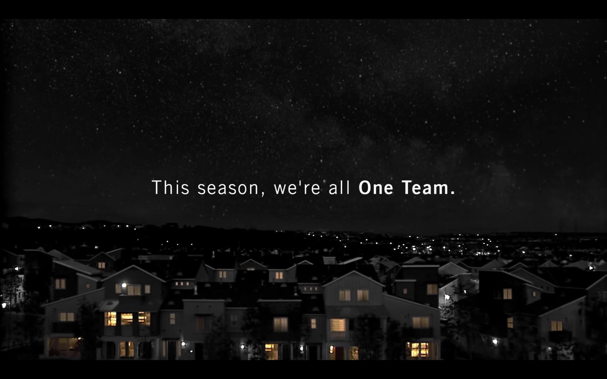 "Budweiser ""One Team"" ad"