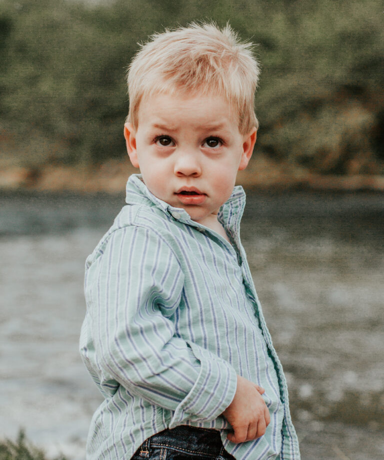 Toddler boy, color photo