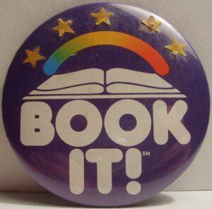 Book it button Pizza hut