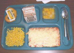 90s school lunch rectangle pizza