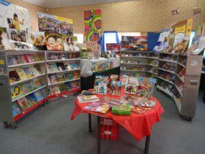 Scholastic book fair tables