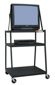 TV and VCR on cart 90s nostalgia
