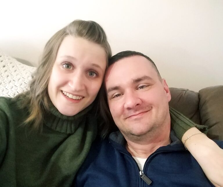 Husband and wife, selfie, color photo