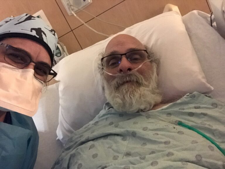 Doctor and patient selfie