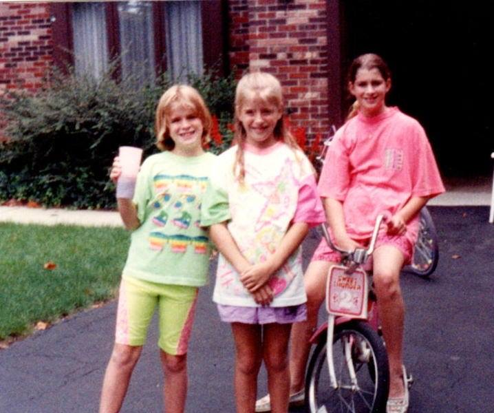 3 friends in the '80s