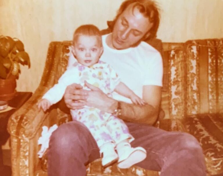 vintage photo of father and son