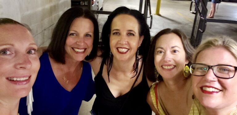 Group of women selfie, color photo
