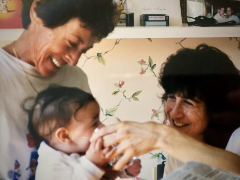 3 generations mom grandma and baby