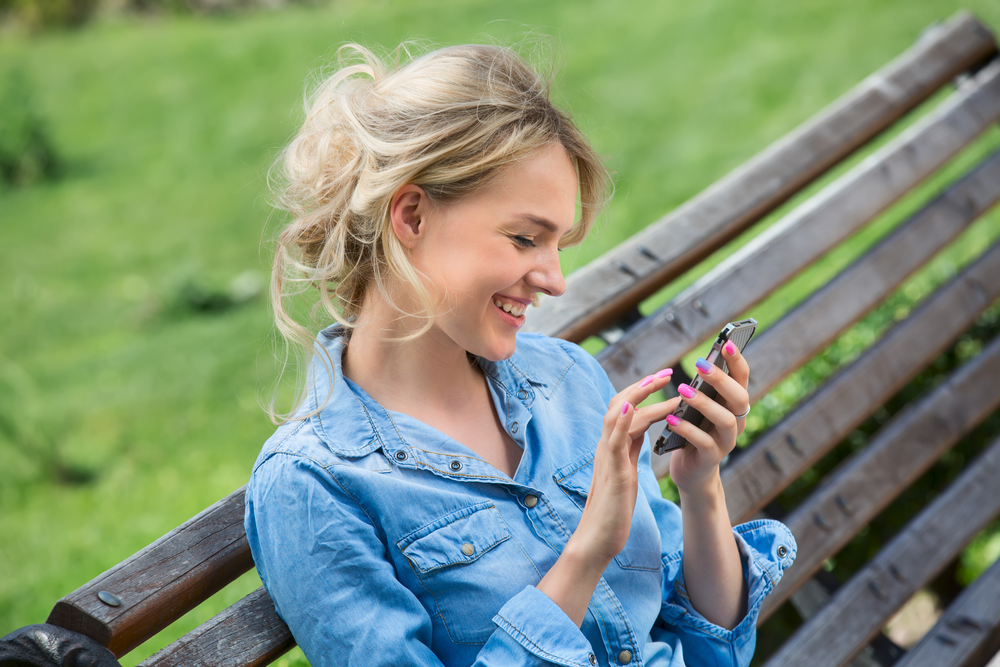 Young woman on phone