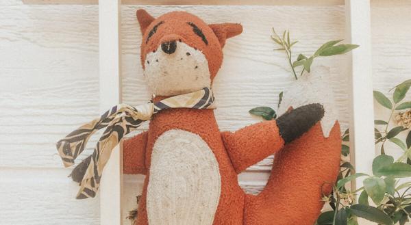 Stuffed fox toy