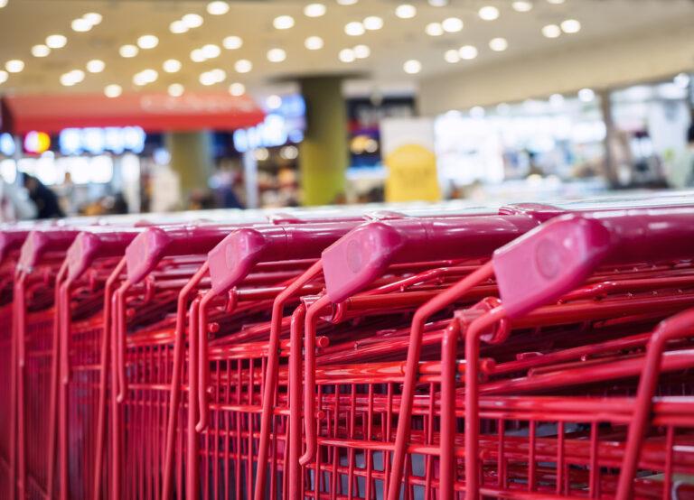 Carts in Target