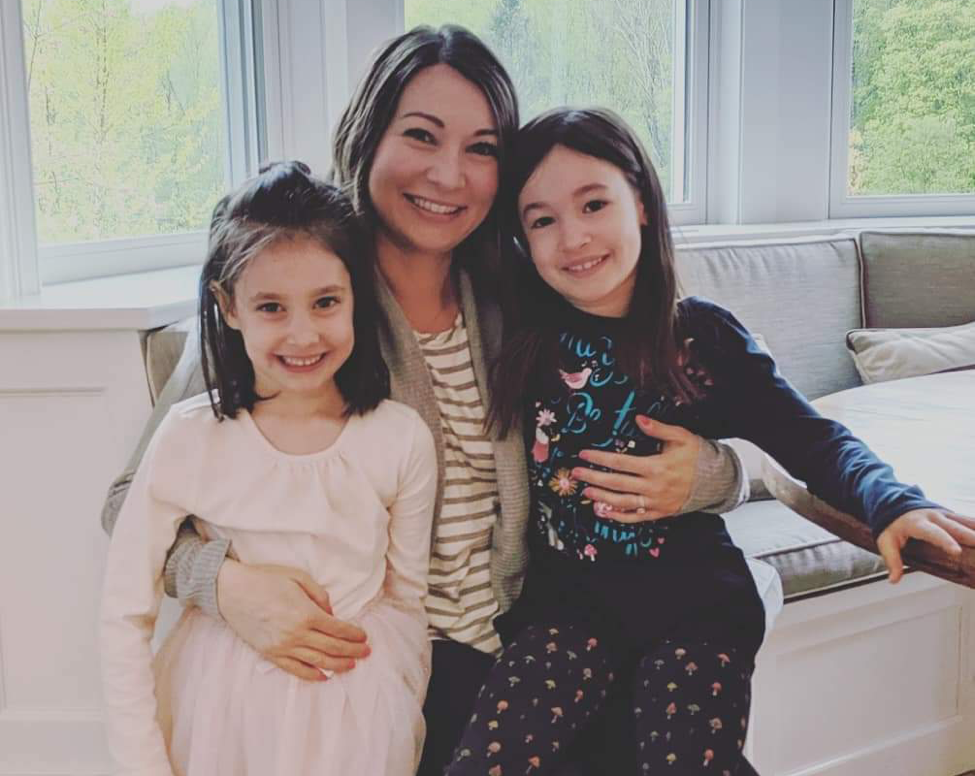Mom and two daughters