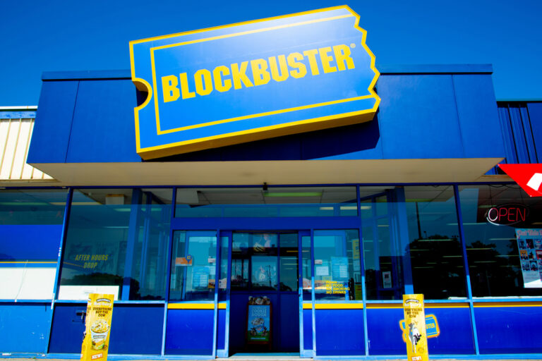 Blockbuster store front