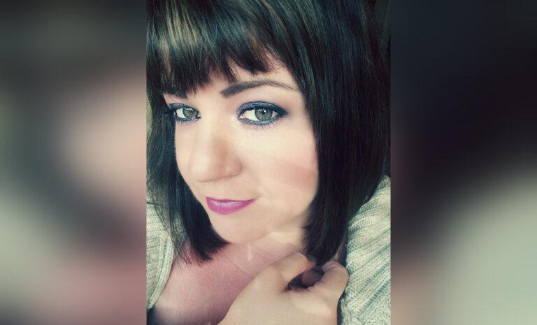 Selfie of woman, color photo