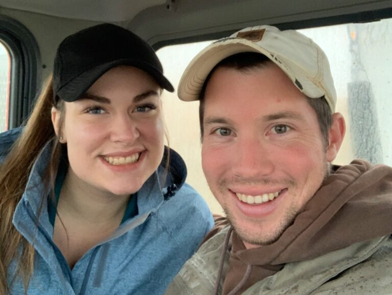 Farmer and wife selfie