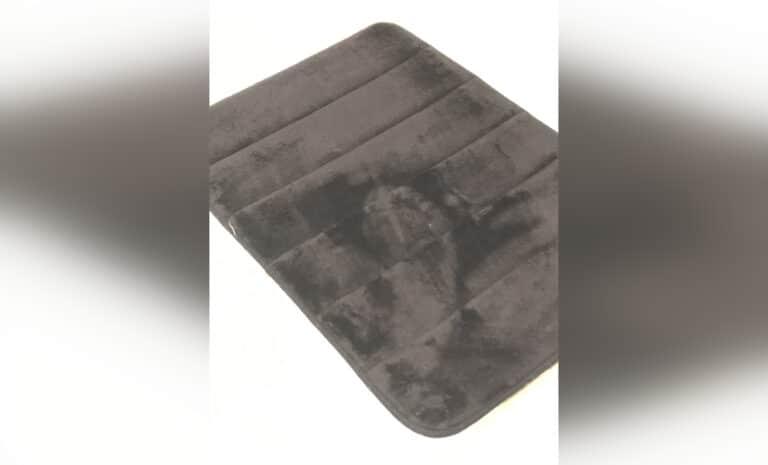Tiny footprint, black-and-white photo