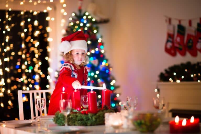 Child lighting Advent calendar