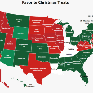 What's Your State's Favorite Christmas Treat? The Answer May Surprise You.