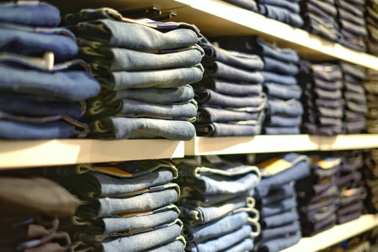 Jeans at store