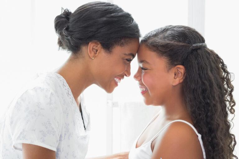 Mother and tween daughter