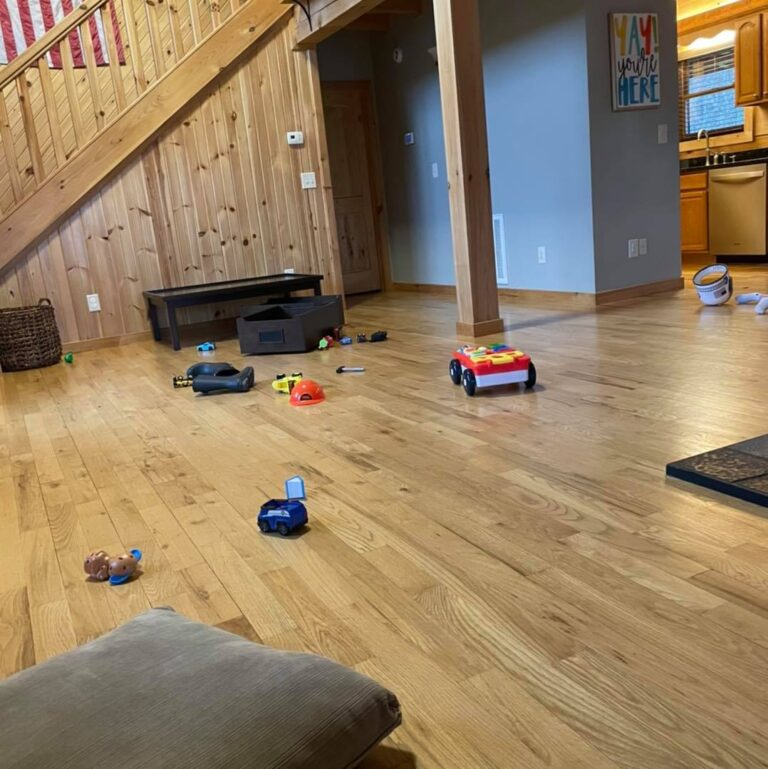 Toy cars on floor