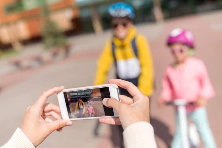 Taking photo of kids