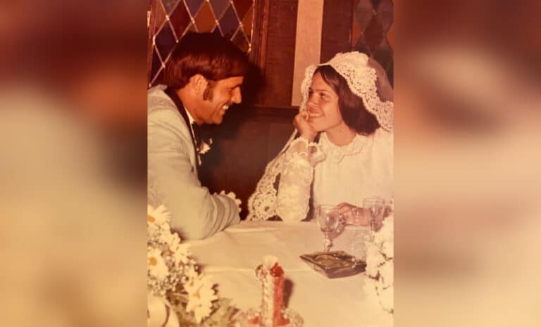Wedding photo from the 70s