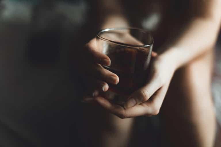 Hands holding drink