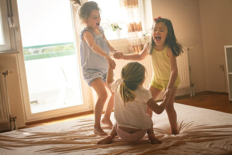 Little girls at home