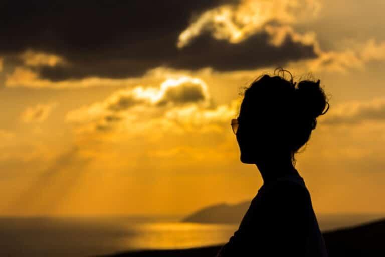 Woman looking at sky