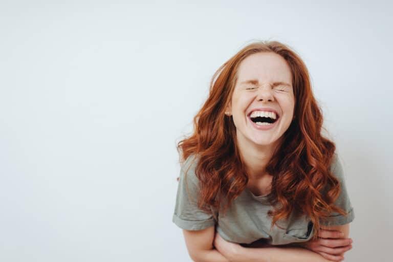 Woman laughing