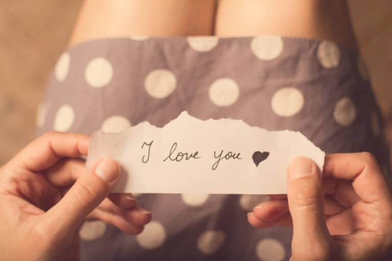 Note saying I love you