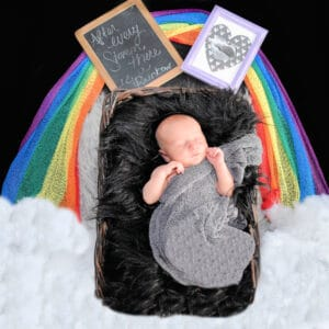 I Have a Rainbow Baby Because of Your Light From Heaven